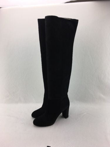 bff27df9332 Nine West Snowfall Women s Black Suede Over The Knee Boot Size 11M RH10020