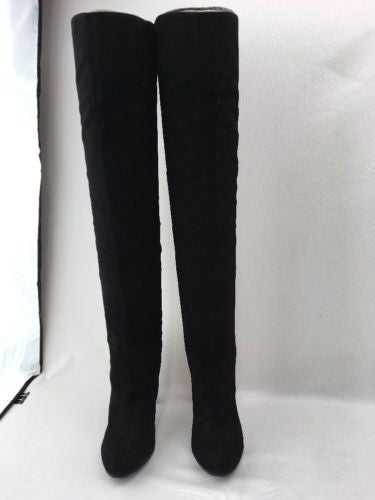 09aea663a5f ... Nine West Snowfall Black Suede Over The Knee Boot