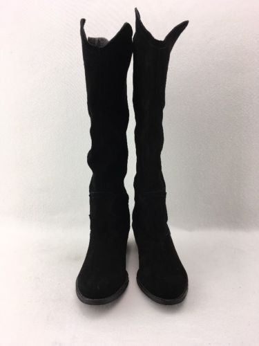 59c615044e0 ... Naughty Monkey Ladies Knee High Slouch Boots Black Leather Size 6  RH8229  ...