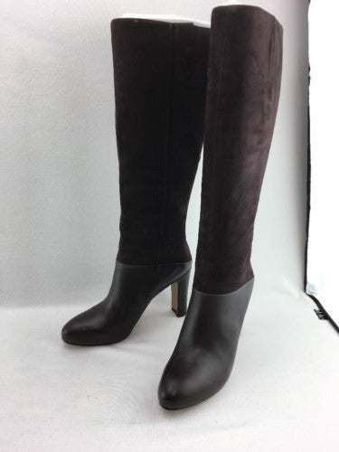 c3fa5837ea96 Nine West GoFish Lady Knee High Boots Dark Brown Leather/Suede Size 10.5M  RH7614 ...