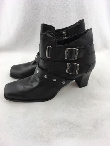 2d81cb460666fa Harley Davidson Black Zip Up Heel Ankle Boots Size 11 RH 8885 – Red ...