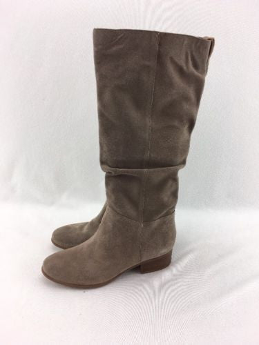 e4f3bf7fa74 Steve Madden Ponderosa Women s Taupe Suede Pull On Knee Boots Size 8.5  RH9919