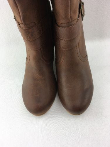 8beadba596f ... Naughty Monkey Park Avenue Tall Ladies Wedge Boots Tan Leather Size 6  RH7266