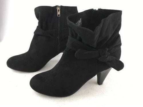 0f84bced41f Nine West Tailor Black Fabric Zip Up Boots
