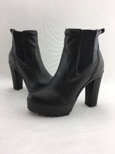 dae522608f7 Nine West Vibrance Chunk Heel Platform Booties Black Synthetic Size 7M  RH7449*