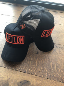 Black Cap with Orange Logo 3D LIFTLDN Caps - LIFT-IT Worldwide
