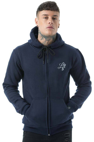 Couture Tracksuit Top Zipped Hoodie Navy - Pre order for dispatch 22nd Sept