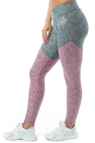 Leggings V-Cut Pink/Grey