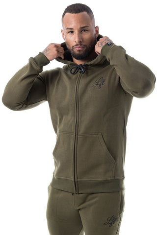 Couture Tracksuit Top Zipped Hoodie Rogue Green - Pre order for dispatch 22nd Sept