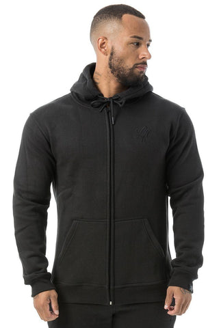 Couture Tracksuit Top Zipped Hoodie Blackout - Pre order for dispatch 22nd Sept
