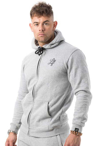 Couture Tracksuit Top Zipped Hoodie Grey - Pre order for dispatch 22nd Sept