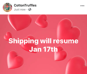 Shipping Resumes Jan 17th
