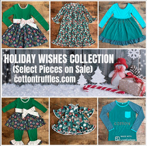 HOLIDAY DRESSES, ROMPERS, MATCHING BOY TOPS, and JAMMIES