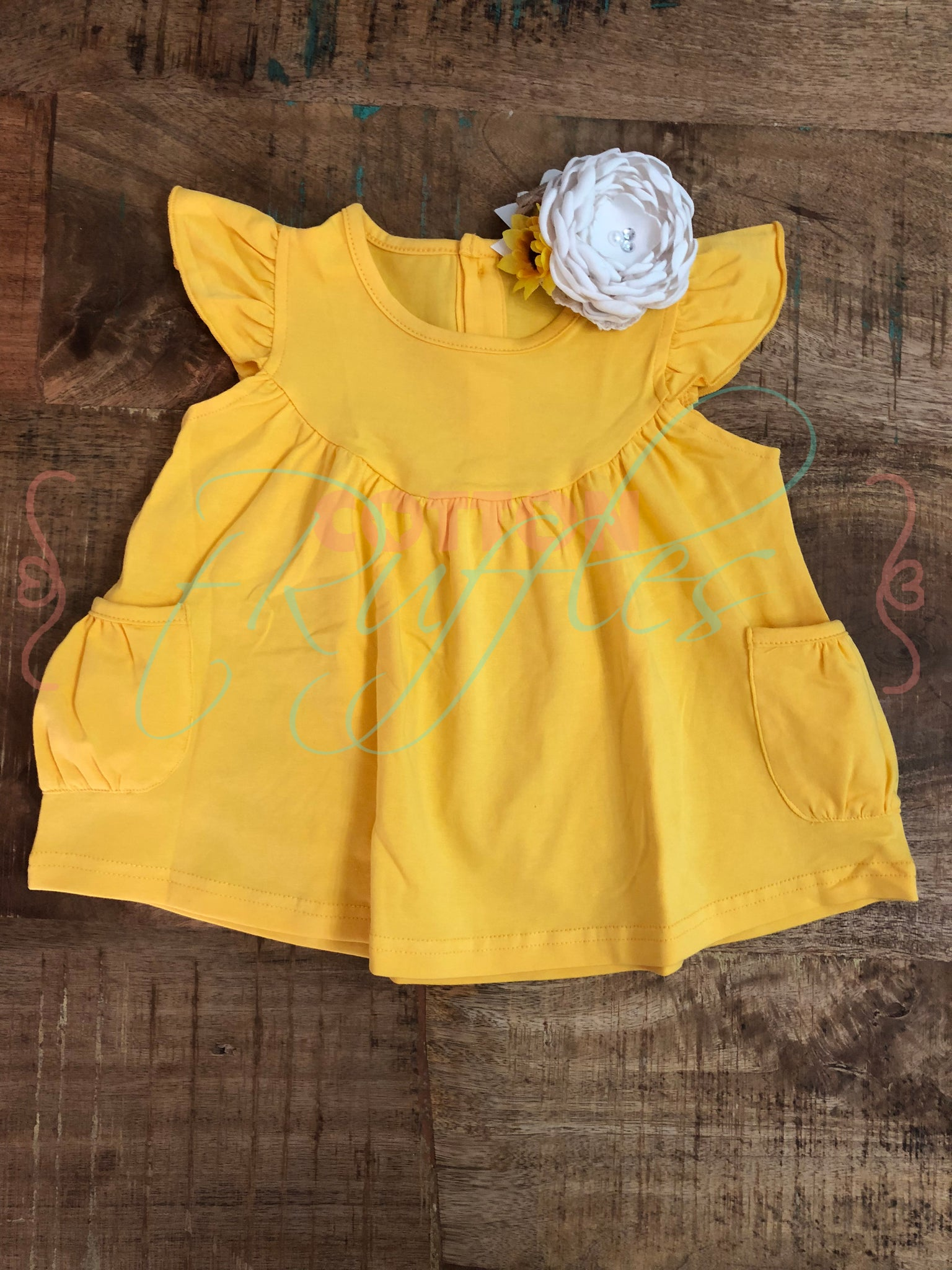 Lemon Yellow Pearl with Pockets