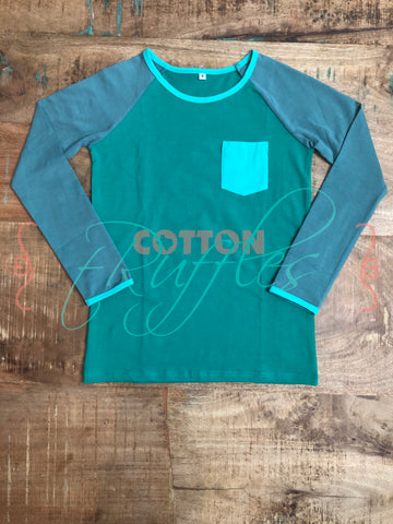 Cotton Trousers Holiday Raglan