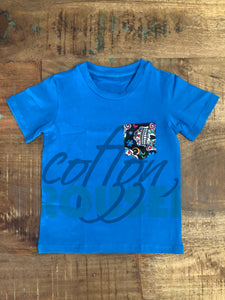 Cotton Trousers Blue Tee with Skulls Pocket - Size 4t, 6