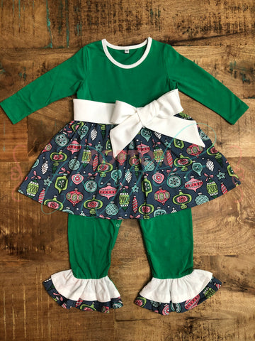 Deck The Halls Holiday Romper