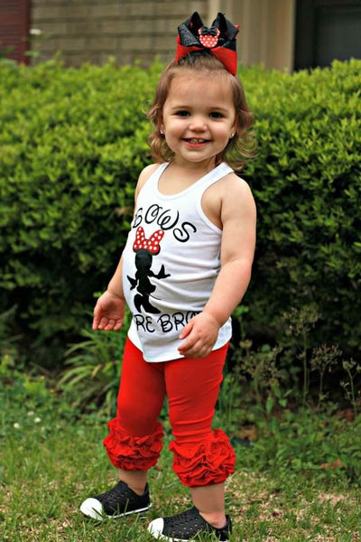 Poppy Red Icing Capris - Size 12m, 18m, 2t