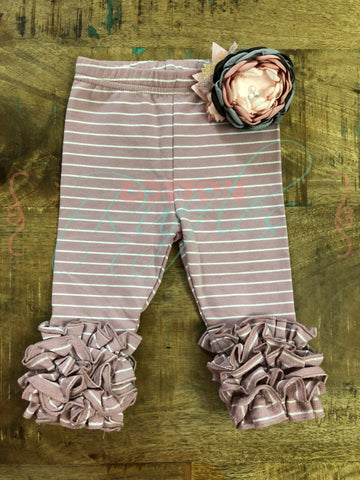 Dusty Mauve Stripe Icings - 2t