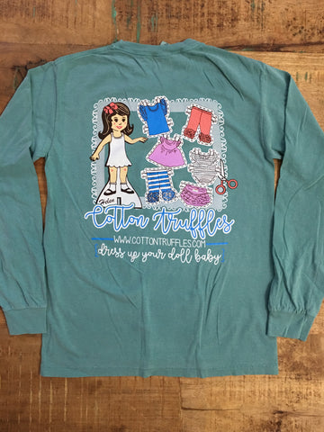 Turquoise CTB Long Sleeve Adult T-Shirt