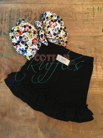 Black Shorties - Size 3m, 6m, 18m