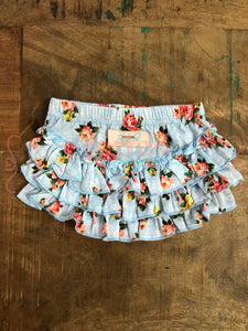 Blue Floral Bloomers - Size 6m, 12m, 4t