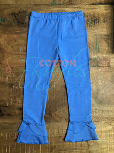 Cornflower Unraveled Full Length Ruffle Bottoms