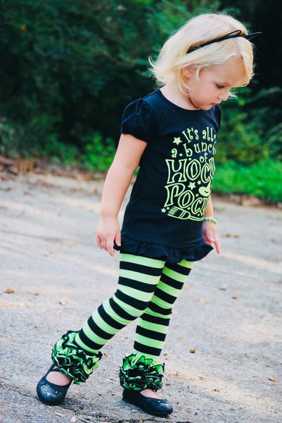 Witches Britches Lime and Black Stripe Icings - Size 3m, 6m, 12m
