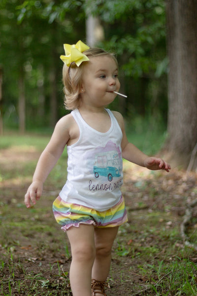 Pastel Rainbow Bubble Shorts - Imperfect - Size 6m, 12m, 18m