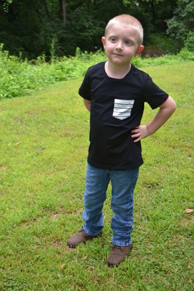 Cotton Trousers Black Pocket Tee - 12m, 18m, 2t, 4t, 6