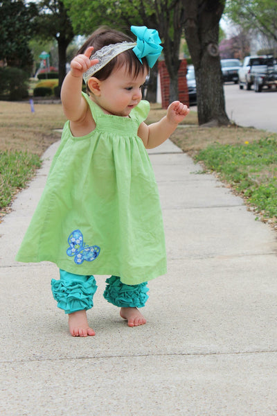 Turquoise Icing Capris - Size 12m, 18m, 8