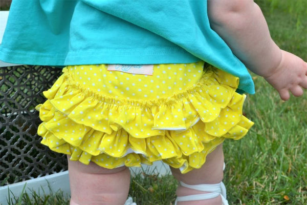 Yellow Polka Dot Bloomers - Size 3m
