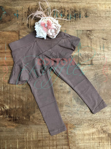Latte Skirted Leggings - Size 18m, 4t, 10
