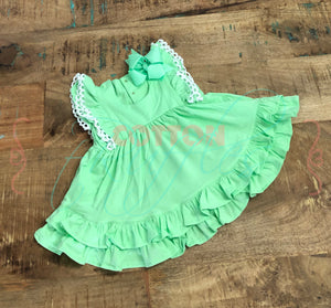 Mint Twirling Helen Dress - Size 6m, 4t
