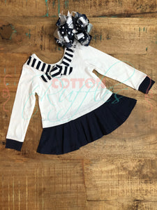 Navy Sailor Peplum - Size 2t