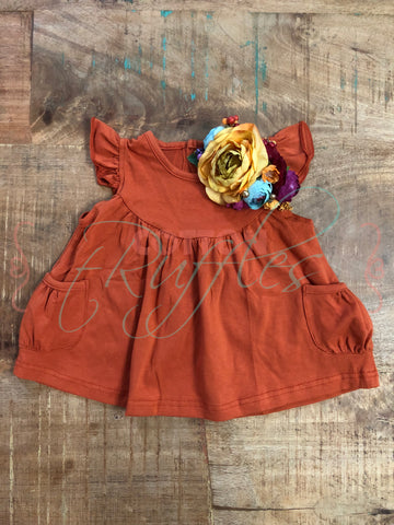 Pumpkin Pearl with Pockets - Size 6m