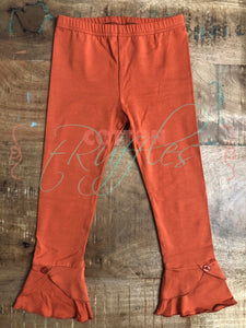 Pumpkin Unraveled Full Length Ruffle Bottoms