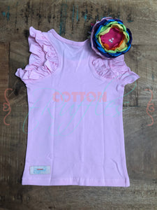 Soft Pink Ruffle Racer - Size 2t