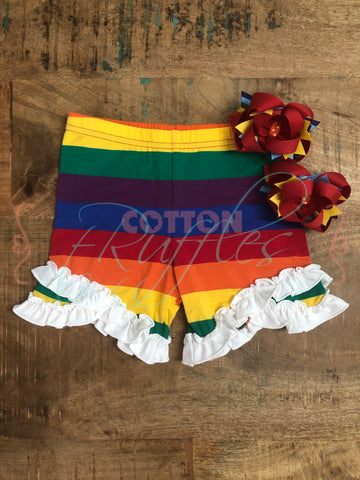 Rainbow PRIDE Split Ruffle Shorties
