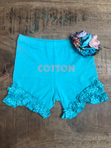 Sea Breeze Split Ruffle Shorties - Size 6, 12
