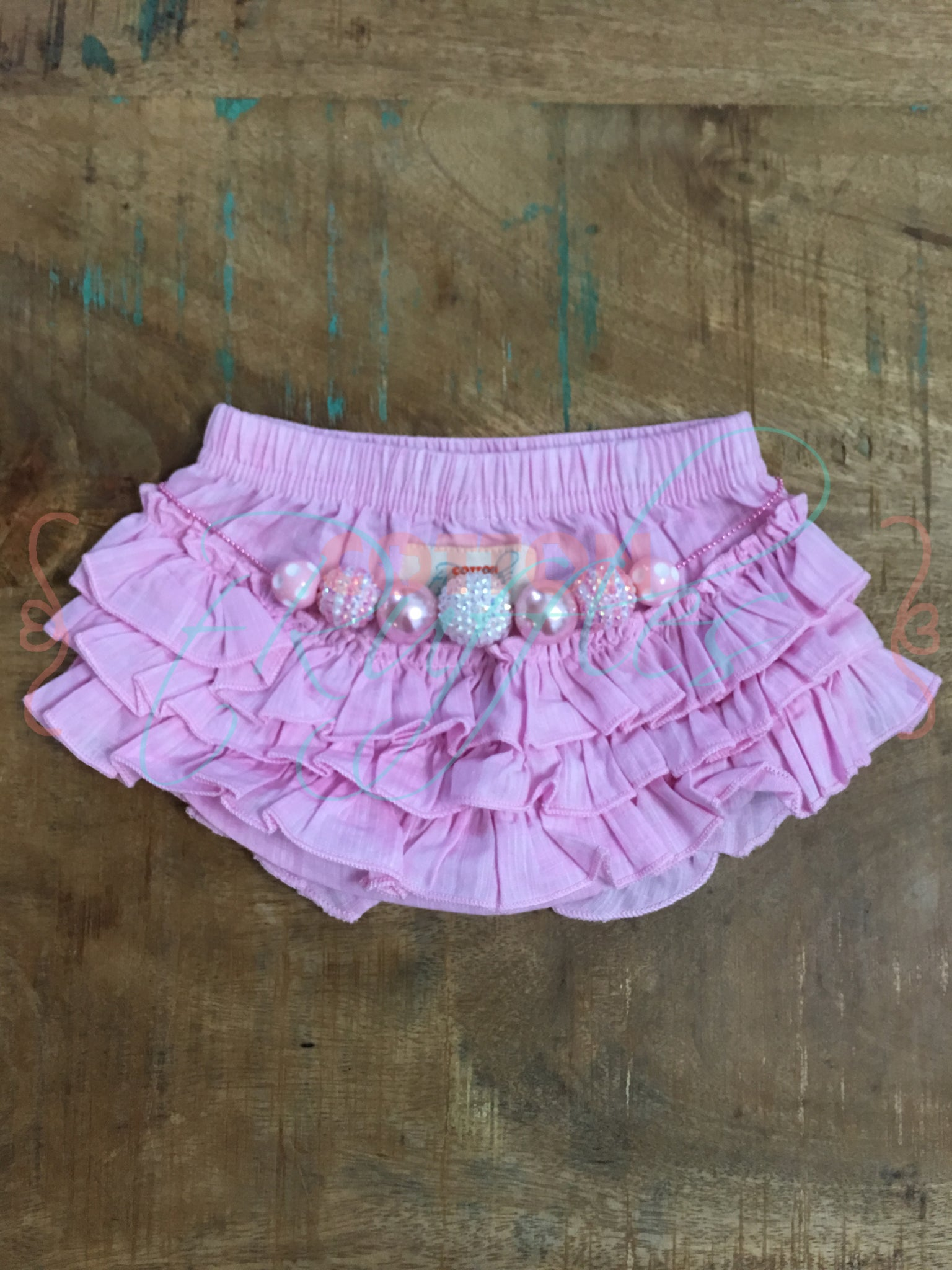Pink Chambray Bloomers - 6m