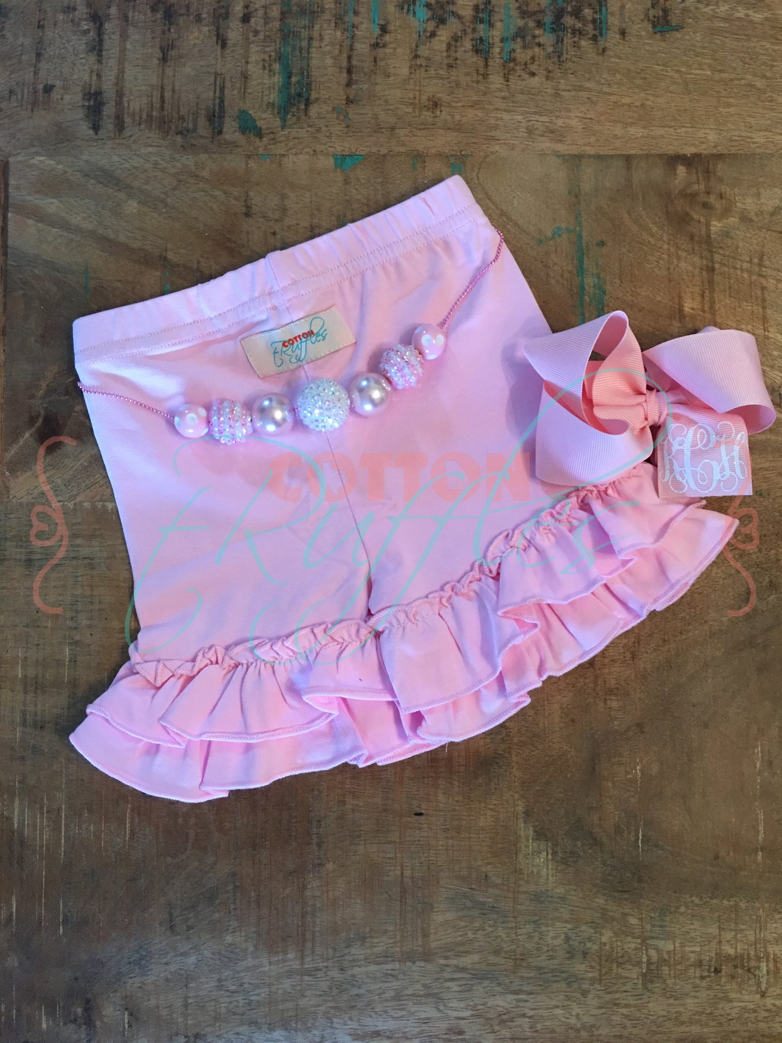 Soft Pink Shorties - 3m, 6m, 12m, 18m