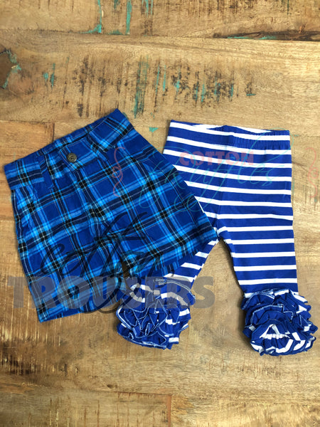 Cotton Trousers Plaid Shorts - Imperfect
