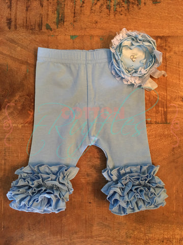 Baby Blue Icing Capris