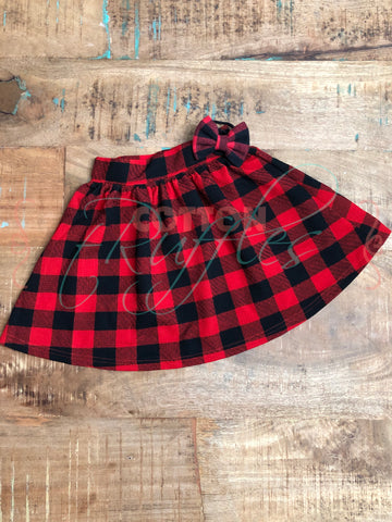 Buffalo Plaid Skirt - Size 4t