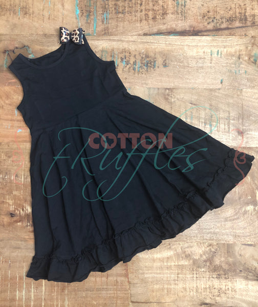 Black Sleeveless Twirling Helen Dress