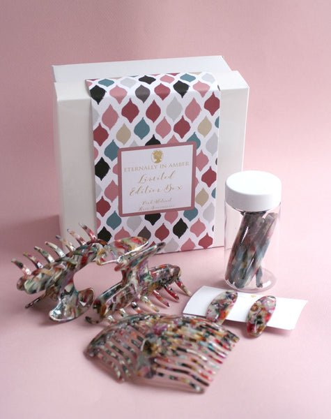 Pink Abstract Hair Accessories Limited Edition Box