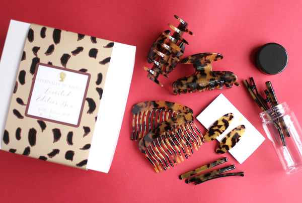 Golden Tortoise Shell Hair Accessories Limited Edition Box