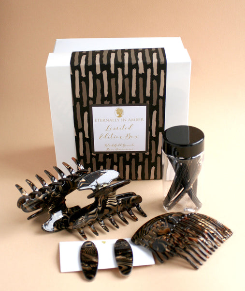 Black/Gold Swirl Hair Accessories Limited Edition Box