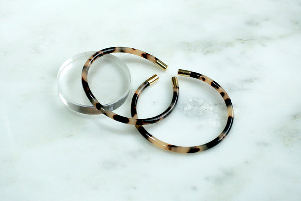 Gold Tipped Bangle Sets